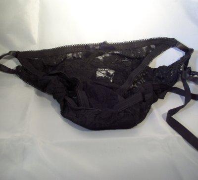 Black panties vibrator
