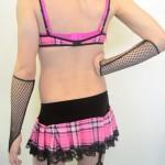 Velvet Tartan Garter Skirt
