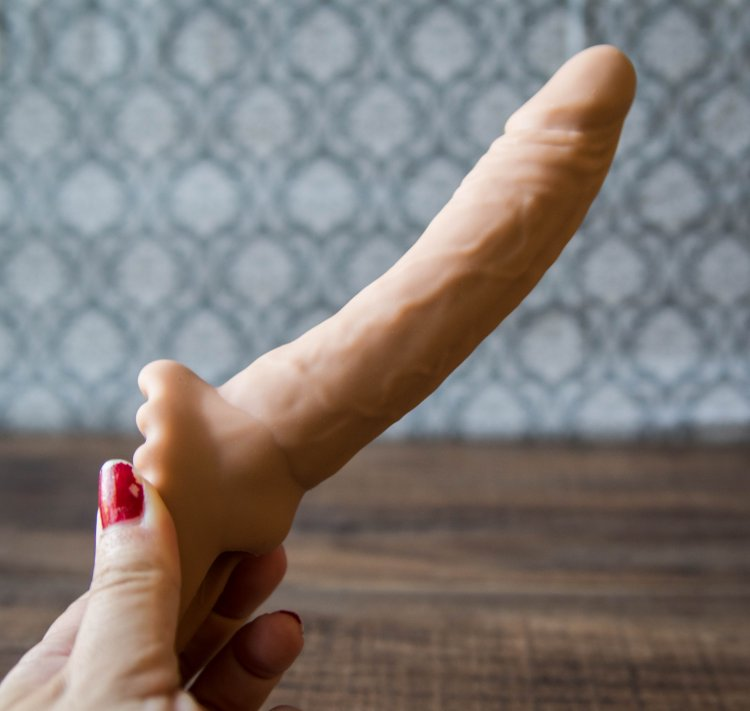 Whole dildo penetration